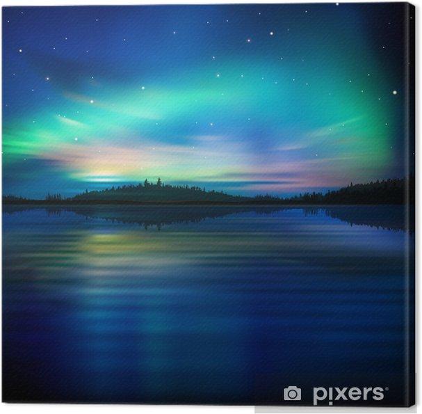 Obraz na płótnie Abstrakcyjne tło z jeziora lasu i wschodem słońca - Tematy
