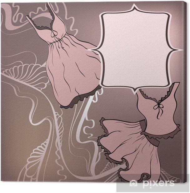Obraz na płótnie Abstrakcyjne tło z kwiatów dekoracyjne ubrania - Tła