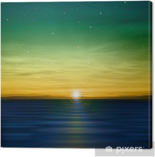 Obraz na płótnie Abstrakcyjne tło z morza wschodu - Niebo