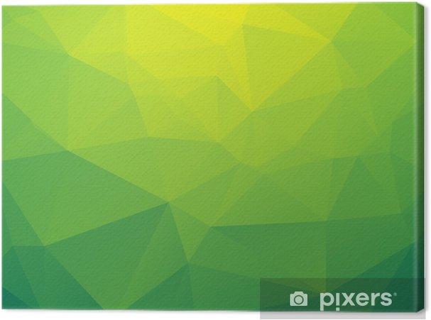 Obraz na płótnie Abstrakcyjne trójkątny żółty zielony bio tle - Tła