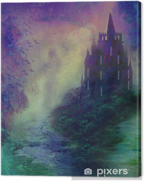 Obraz na płótnie Abstrakcyjny krajobraz starego zamku - Inne uczucia
