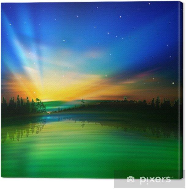 Obraz na płótnie Abstrakcyjny Nature o wschodzie słońca - Cuda natury