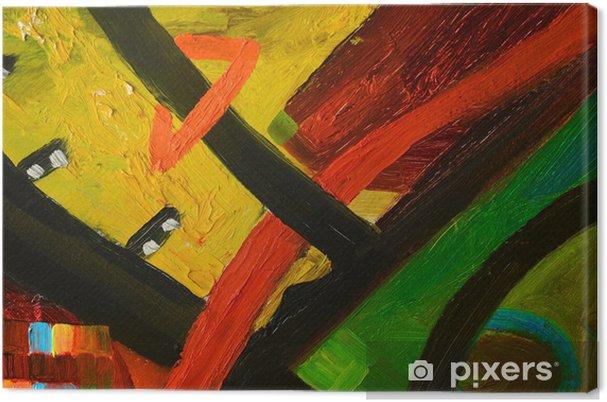 Obraz na płótnie Abstrakcyjny obraz olejny - Sztuka i twórczość