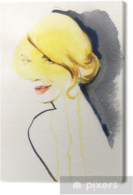 Obraz na płótnie Abstrakcyjny portret kobiety - Tematy
