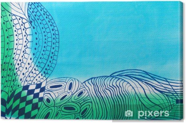Obraz na płótnie Abstrakcyjny wzór na jedwabiu batik ręcznie - Sztuka i twórczość