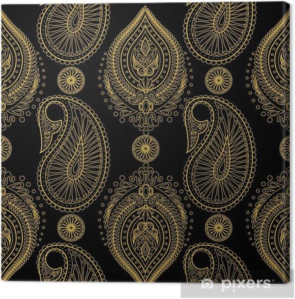 Obraz na płótnie Adamaszku paisley bez szwu wektor wzór. kwiatowy wzór tła - Zasoby graficzne