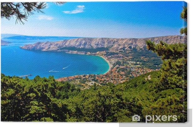 Obraz na płótnie Adriatic miasta Baska z lotu ptaka - Woda