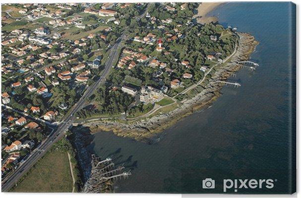 Obraz na płótnie Aerial gzyms Ziemia Negro Saint-Palais-sur-Mer - Inne Inne