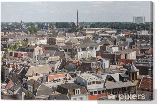 Obraz na płótnie Aerial miejskiego średniowiecznego miasta Utrecht, Holandia - Europa