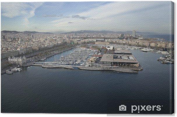 Obraz na płótnie Aerial photo Port barcelona - Tematy