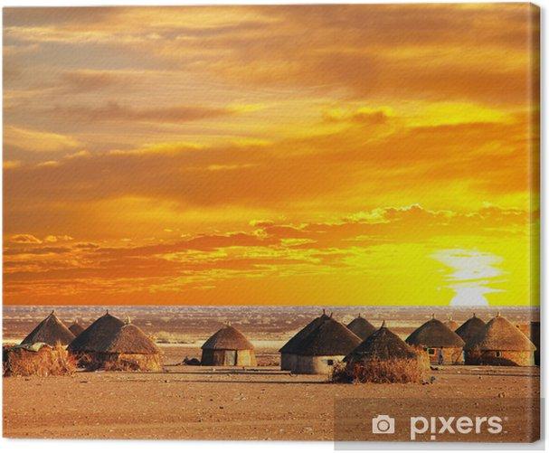 Obraz na płótnie Afrykańska wioska - Afryka