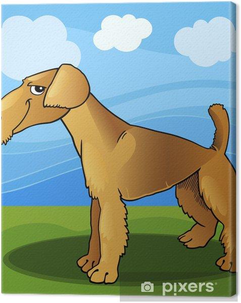 Obraz na płótnie Airedale terrier pies ilustracji kreskówki - Ssaki