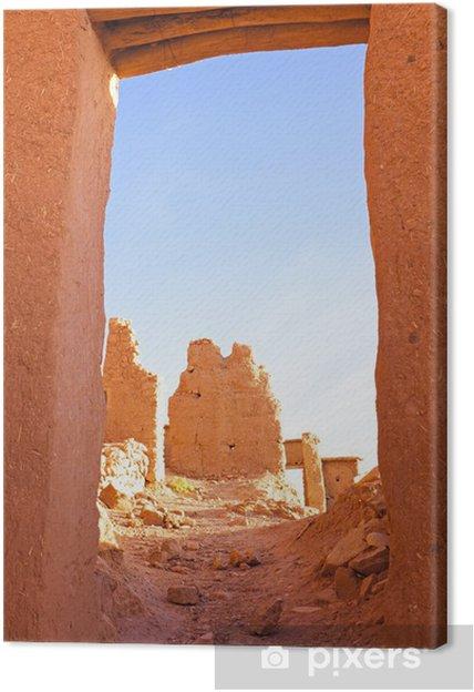 Obraz na płótnie Ait Benhaddou, ufortyfikowane miasto, Kasbah lub Ksar, wzdłuż dawnego c - Afryka