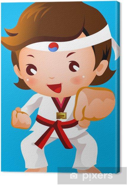 Obraz na płótnie Akcja dla sztuk walki - Dzieci