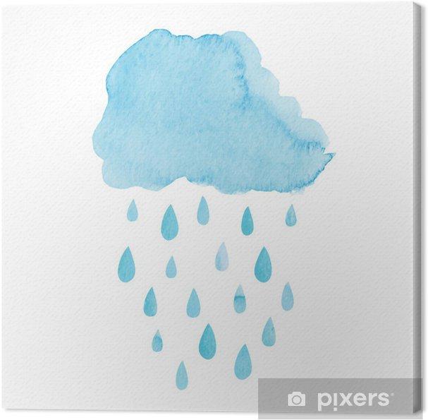 Obraz na płótnie Akwarela chmura deszczowa - Niebo