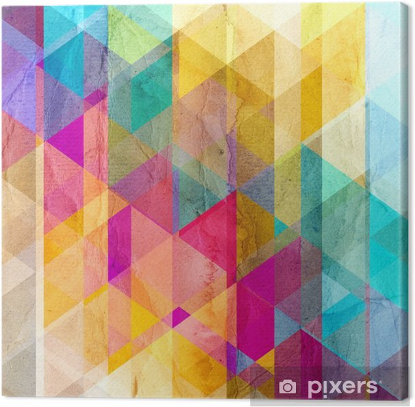 Obraz na płótnie Akwarela geometryczne tło z trójkątów - Zasoby graficzne