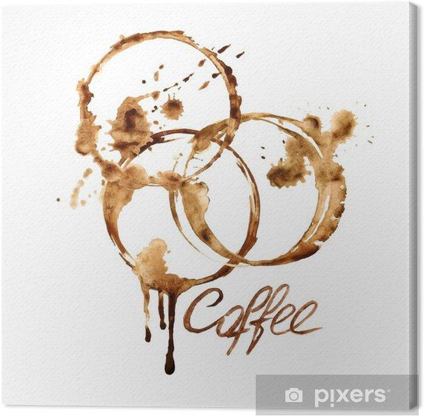 Obraz na płótnie Akwarela plamy z kawy godło - Jedzenie
