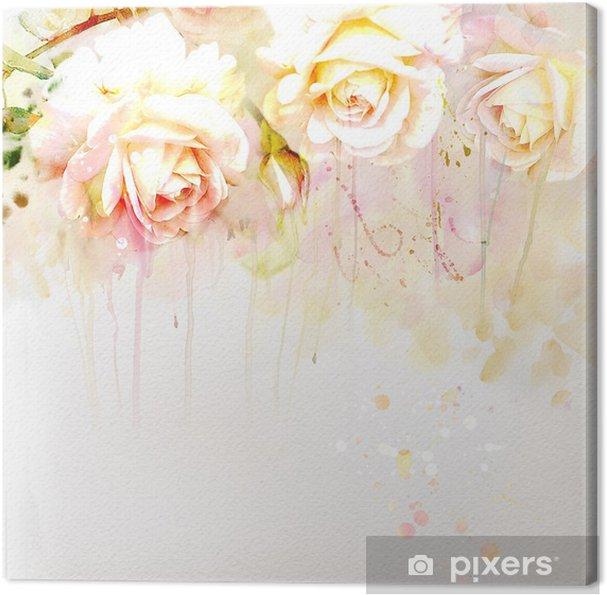 Obraz na płótnie Akwarela-Rose- - Tematy