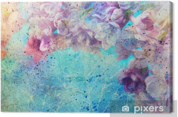 Obraz na płótnie Akwarela rozpryski i piękne kwiaty bzu -