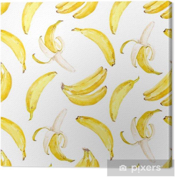 Obraz na płótnie Akwarela wektor wzór banana - Jedzenie