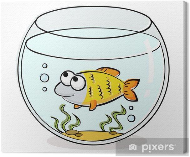 Obraz na płótnie Akwarium z zabawnym ryb - Zwierzęta żyjące pod wodą
