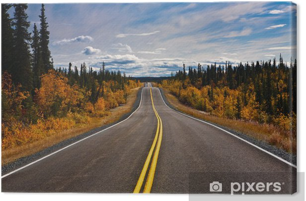 Obraz na płótnie Alaska Highway endlose Weite Yukon - Tematy