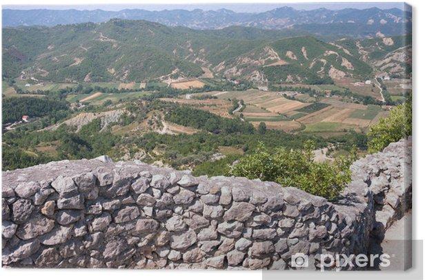 Obraz na płótnie Albański krajobraz z Petrele Zamku - Europa