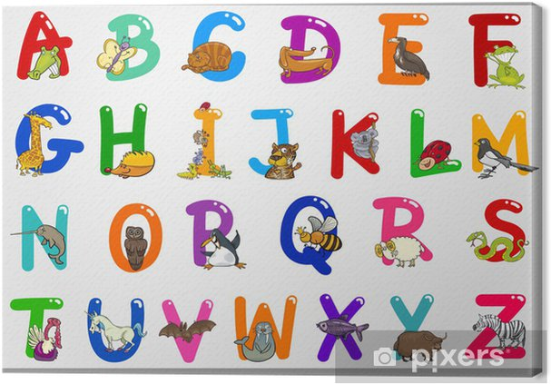 Obraz na płótnie Alfabet Cartoon z Zwierzęta Zwierzęta - Tematy