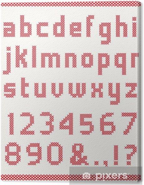 Obraz na płótnie Alfabet do haftu - Tematy