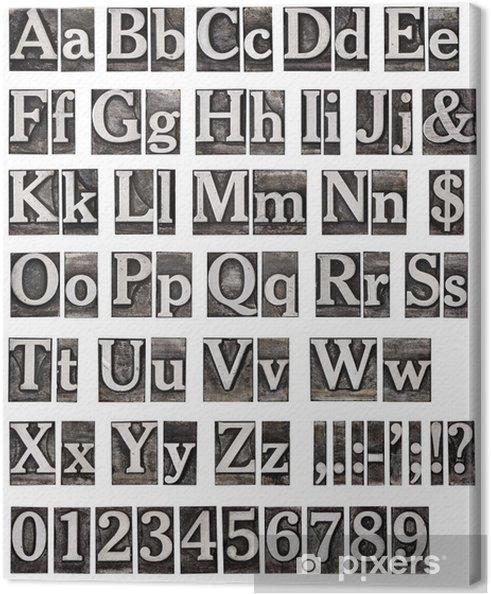 Obraz na płótnie Alfabet ze starych listów metalowych - Tematy
