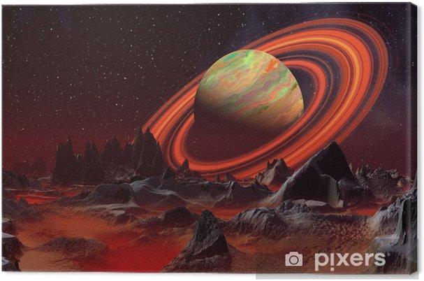 Obraz na płótnie Alien Planet i Saturn jak Planet - Planety