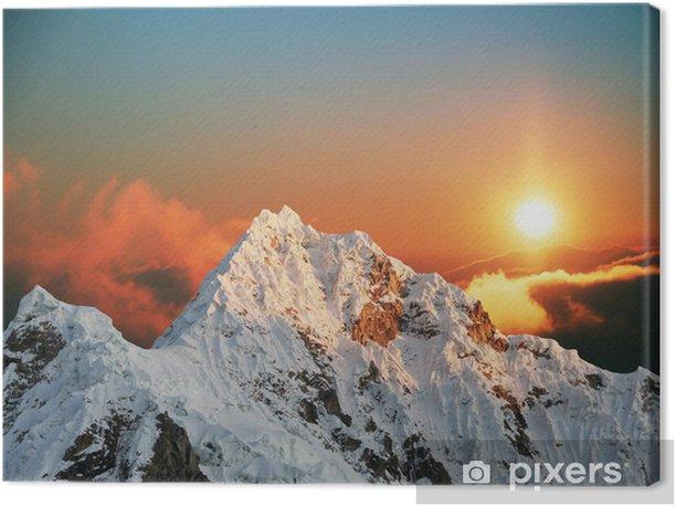 Obraz na płótnie Alpamayo szczyt na Sunset1 - Tematy