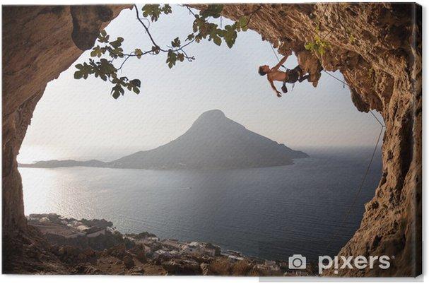 Obraz na płótnie Alpinistą na klifie. Wyspa Kalymnos, Grecja. - Sporty indywidualne