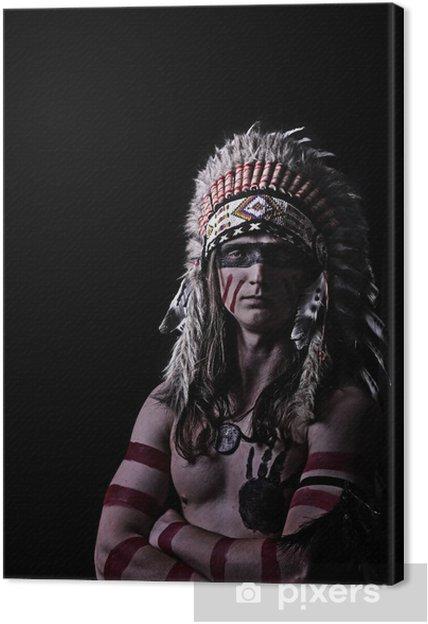 Obraz na płótnie American Indian w barwy wojenne - Mężczyźni