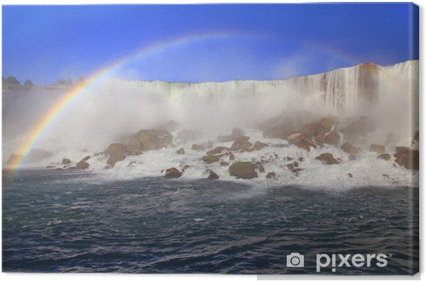 Obraz na płótnie American spada i tęczy, Niagara - Ameryka