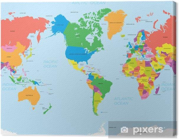 Obraz na płótnie Amerykańska mapa świata - Dla przedszkolaka