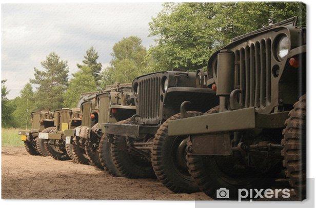 Obraz na płótnie Amerykańskie samochody wojskowe - Czas