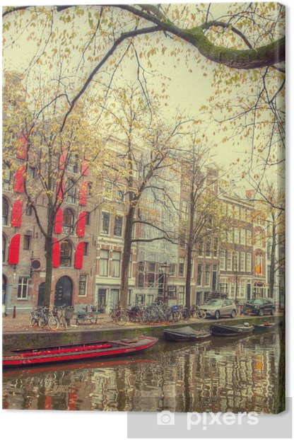 Obraz na płótnie Amsterdam jesienią. pięknych miejsc w Europie - Infrastruktura