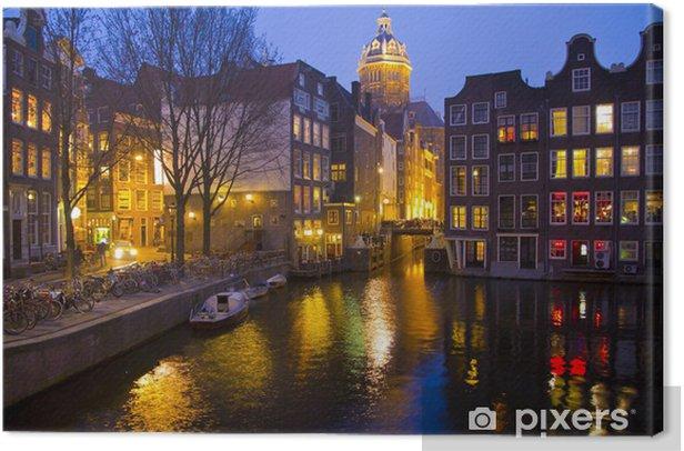 Obraz na płótnie Amsterdam kanał i najwyższy punkt - Przemysł ciężki