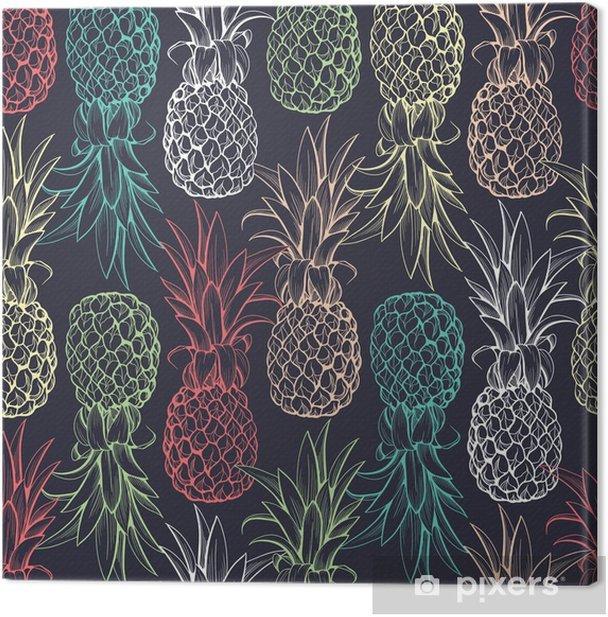 Obraz na płótnie Ananasy szwu - Tła