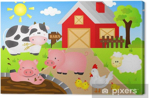 Obraz na płótnie Animals stodoła - Dla przedszkolaka