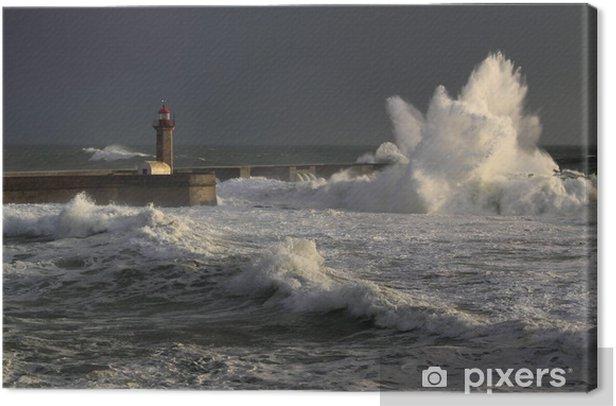 Obraz na płótnie April in Portugal - Waves - Woda