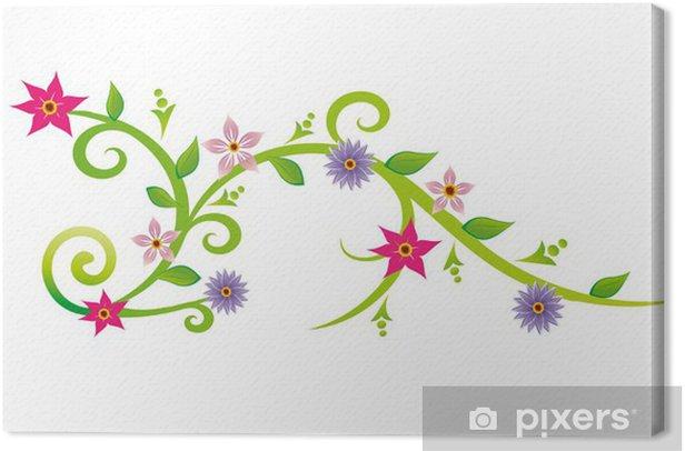 Obraz na płótnie Arabeski fleuries - Rośliny