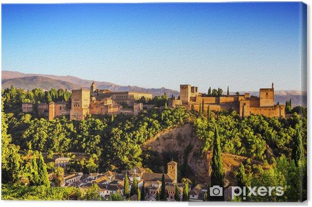 Obraz na płótnie Arabski starożytnej twierdzy Alhambra, Granada, Hiszpania. - Wakacje
