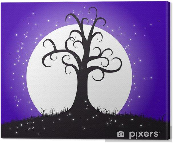 Obraz na płótnie Arbre lune - Drzewa