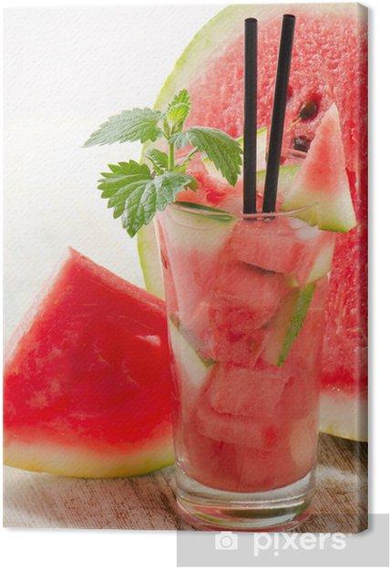 Obraz na płótnie Arbuz cocktail - Owoce