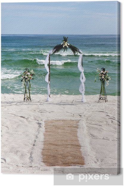 Obraz na płótnie Arch dla nowożeńców z dywanem - Świętowanie