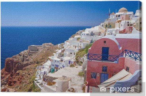 Obraz na płótnie Architektura miasta Oia na wyspie Santorini, Grecja - Europa