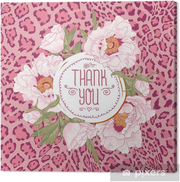 Obraz na płótnie Archiwalne karty z pozdrowieniami z kwiatów kwitnących - Ekologia