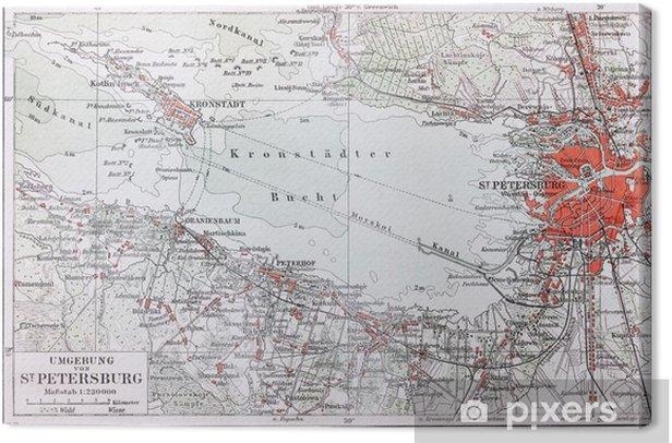 Obraz na płótnie Archiwalne mapy Sankt Petersburg okolicy - Akcesoria
